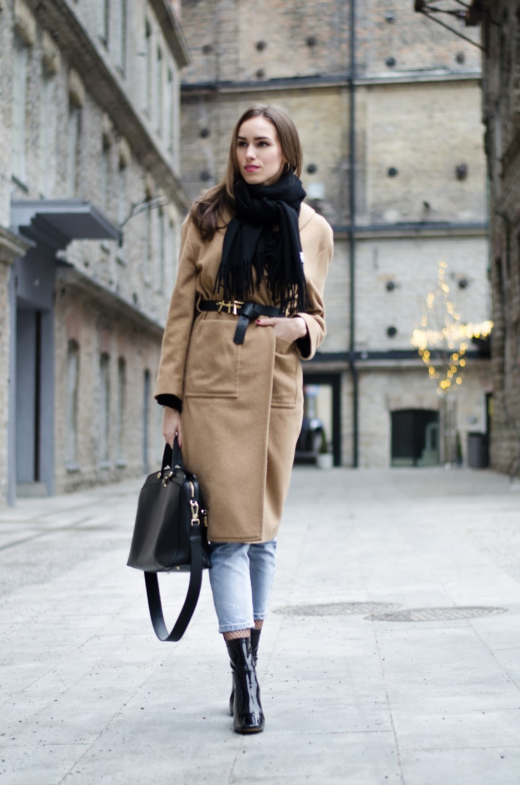kristjaana mere acne scarf coat winter outfit