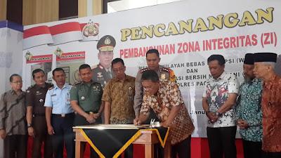 Pencanangan Pembangunan Zona Integritas Polres Pacitan 2019