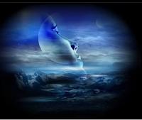 half moon indicating broken dreams