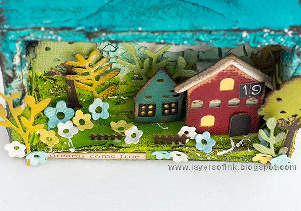Layers of ink - Miniature House Shadow Box by Anna-Karin Evaldsson