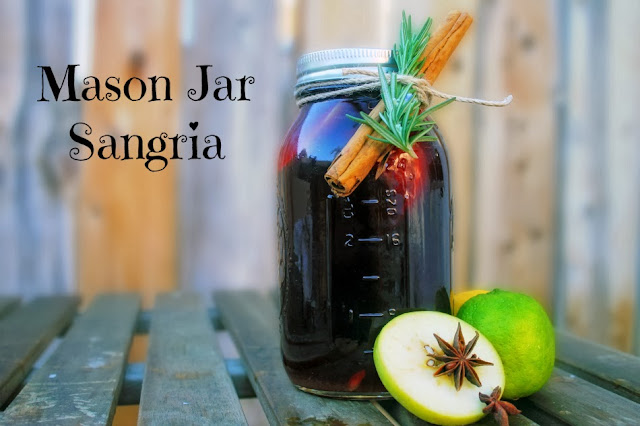 Thanksgiving Round-Up: Mason Jar Sangria by The Darling Bakers