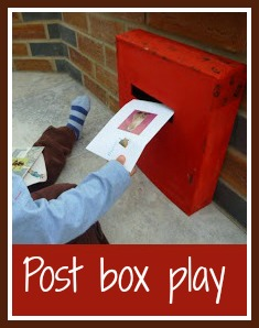 Post box pretend play for children