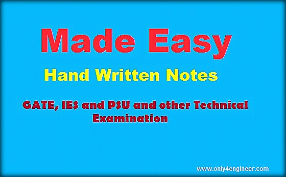 Download Made Easy GATE Civil Engineering Hand Written Notes for free