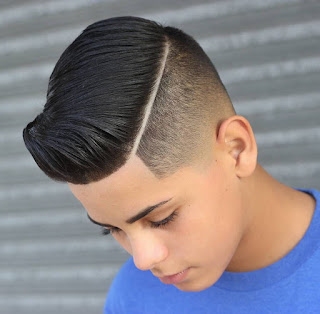 Low Fade Haircut With Line