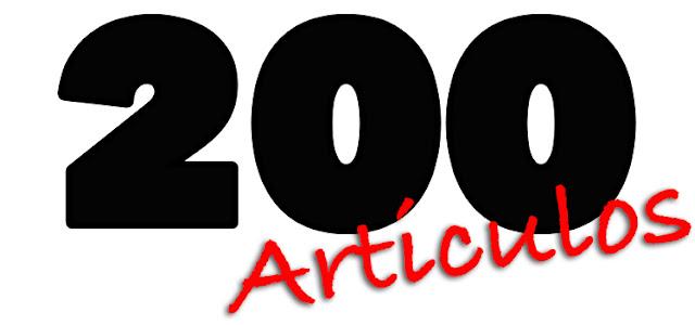 200 artículos del blog debajodelreloj