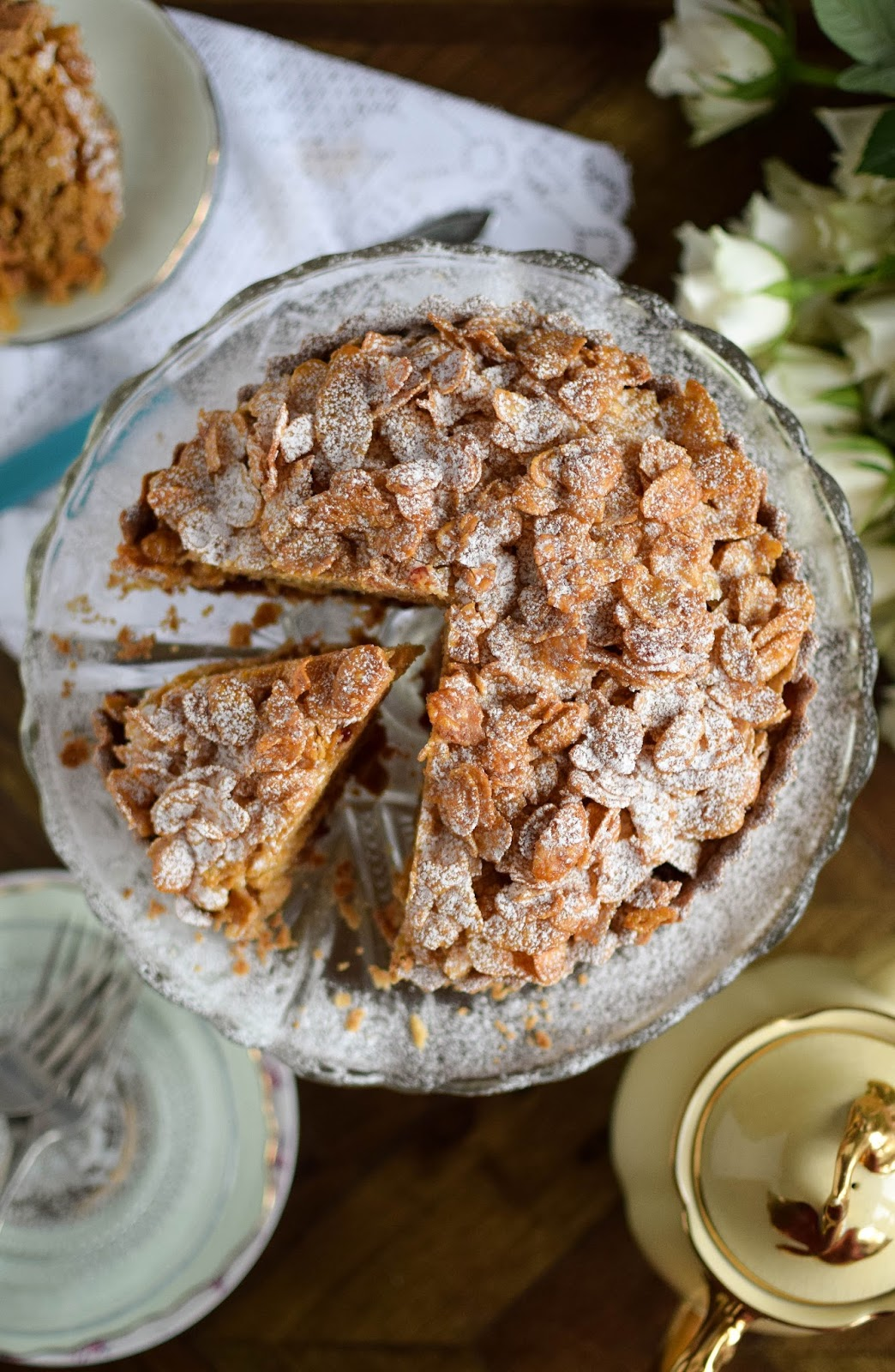 Cornflake tart, a school dinner favourite.