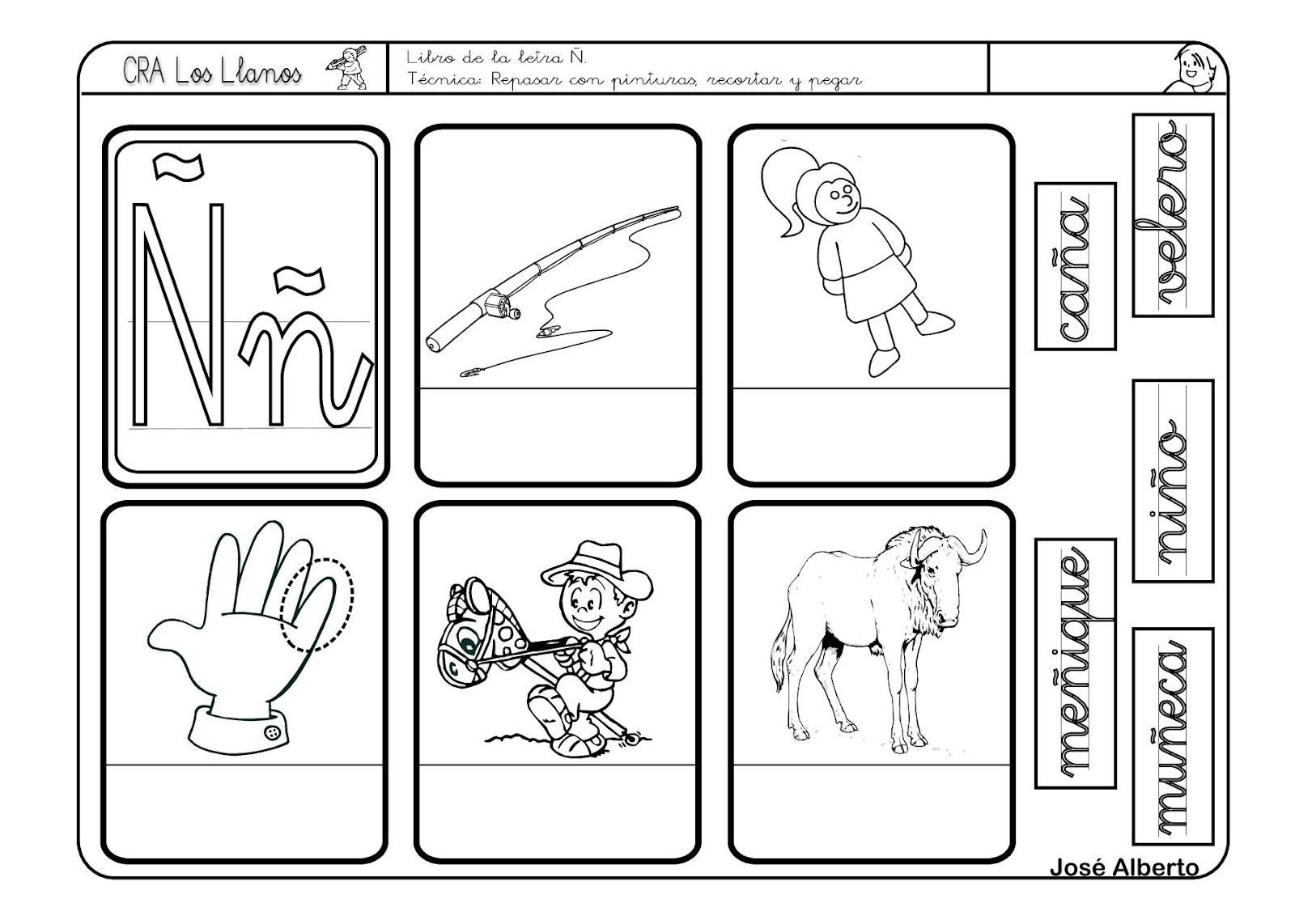 El Rincón De Las Letras: Trabajo Para Repasar La N Y La Ñ