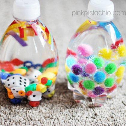 Passo a passo para fazer garrafas sensoriais para o bebê