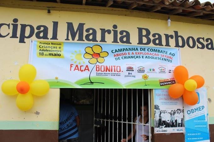 CRAS E CONSELHO TUTELAR DE UMBUZEIRO REALIZAM CAMPANHA DO DIA 18 DE MAIO EM PARCERIA COM A ESCOLA MARIA BARBOSA
