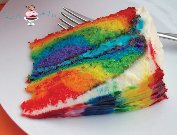 How To Tie Dye Cake Icing