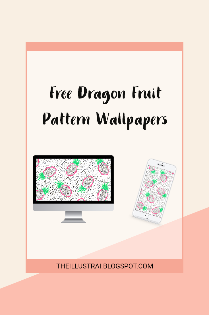 Download these dragon fruit pattern wallpapers for your phone and desktop.