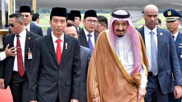 Presiden Jokowi Menyambut Kunjungan Raja Salman