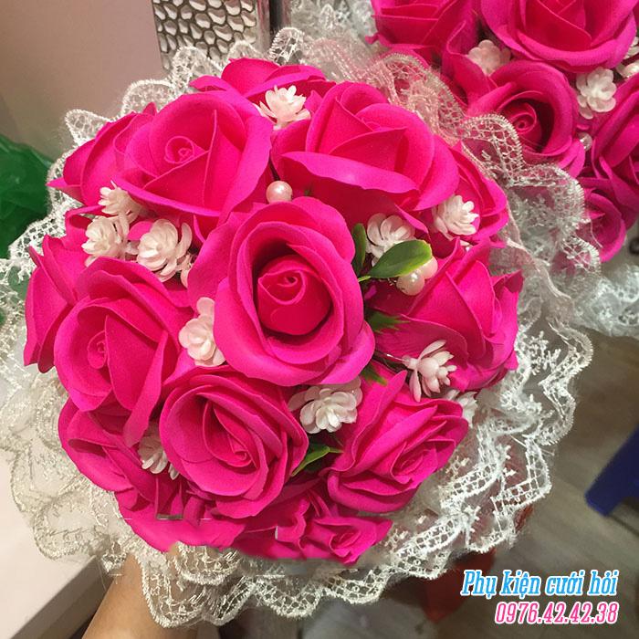 Hoa cam tay co dau HC016