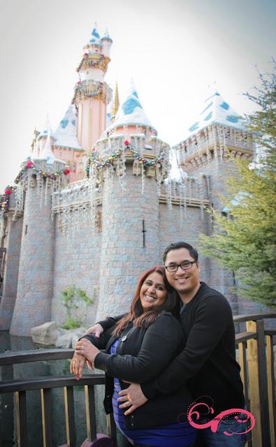 Disneyland Engagement Shoot - Sleeping Beauty's Castle