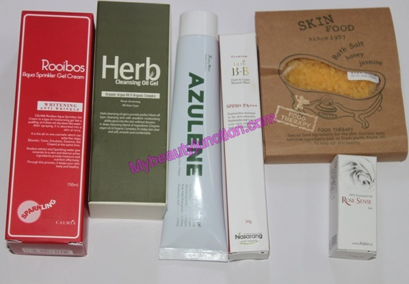 Memebox Herbal Cosmetics beauty box review, unboxing