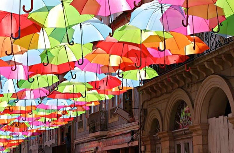 4. Floating Umbrella Street, Portugal - 5 of The Most Wondrous Streets on Earth