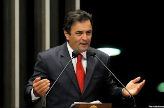 Senador Aécio Neves: lider da oposição