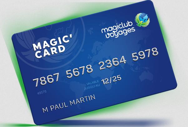 Carte de fidélité Magiclub Voyages