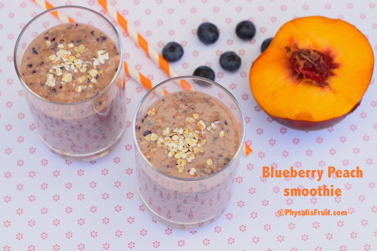 Blueberry Peach Smoothie ~ Physalis Fruit