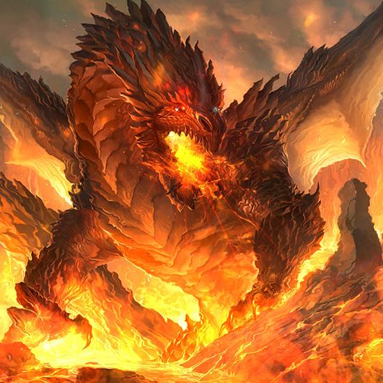 Burning Great Dragon Wallpaper Engine