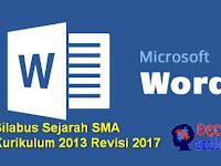 Silabus Sejarah SMA Kurikulum 2013 Revisi 2017