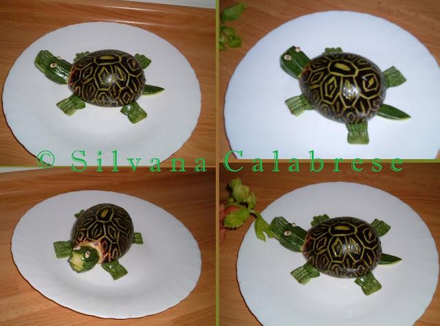 Intagli frutta verdura tartaruga con melanzana Silvana Calabrese - Blog