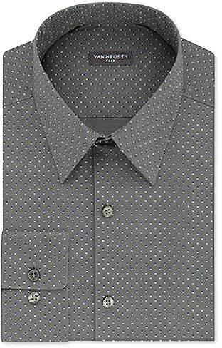 Van Heusen Mens Slim-Fit Micro Houndstooth Dress Shirt