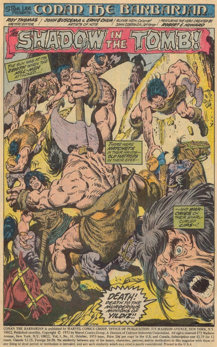 Conan the Barbarian (1970) 31 Page 1