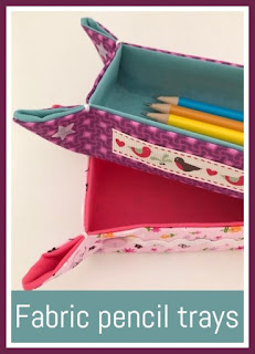 Tutorial for fabric pencil trays to organise the desk