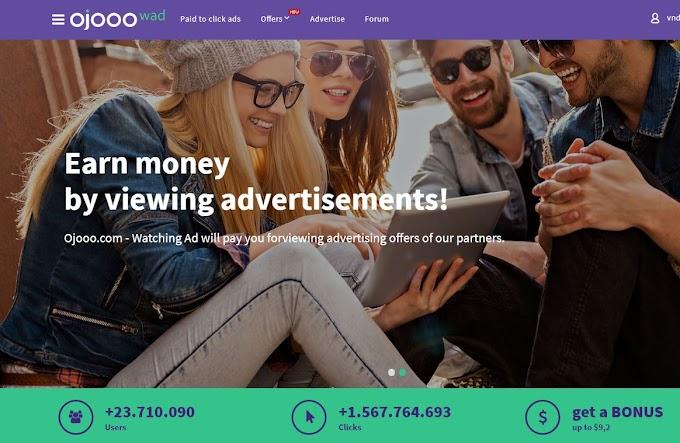 MMO - Kiếm tiền từ click quảng cáo trên web và trên điện thoại với Ojooo