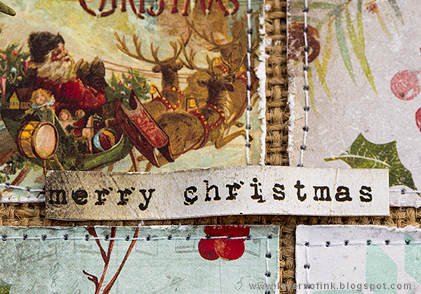 Layers of ink - Christmas Patchwork Wall-hanger by Anna-Karin with Tim Holtz idea-ology
