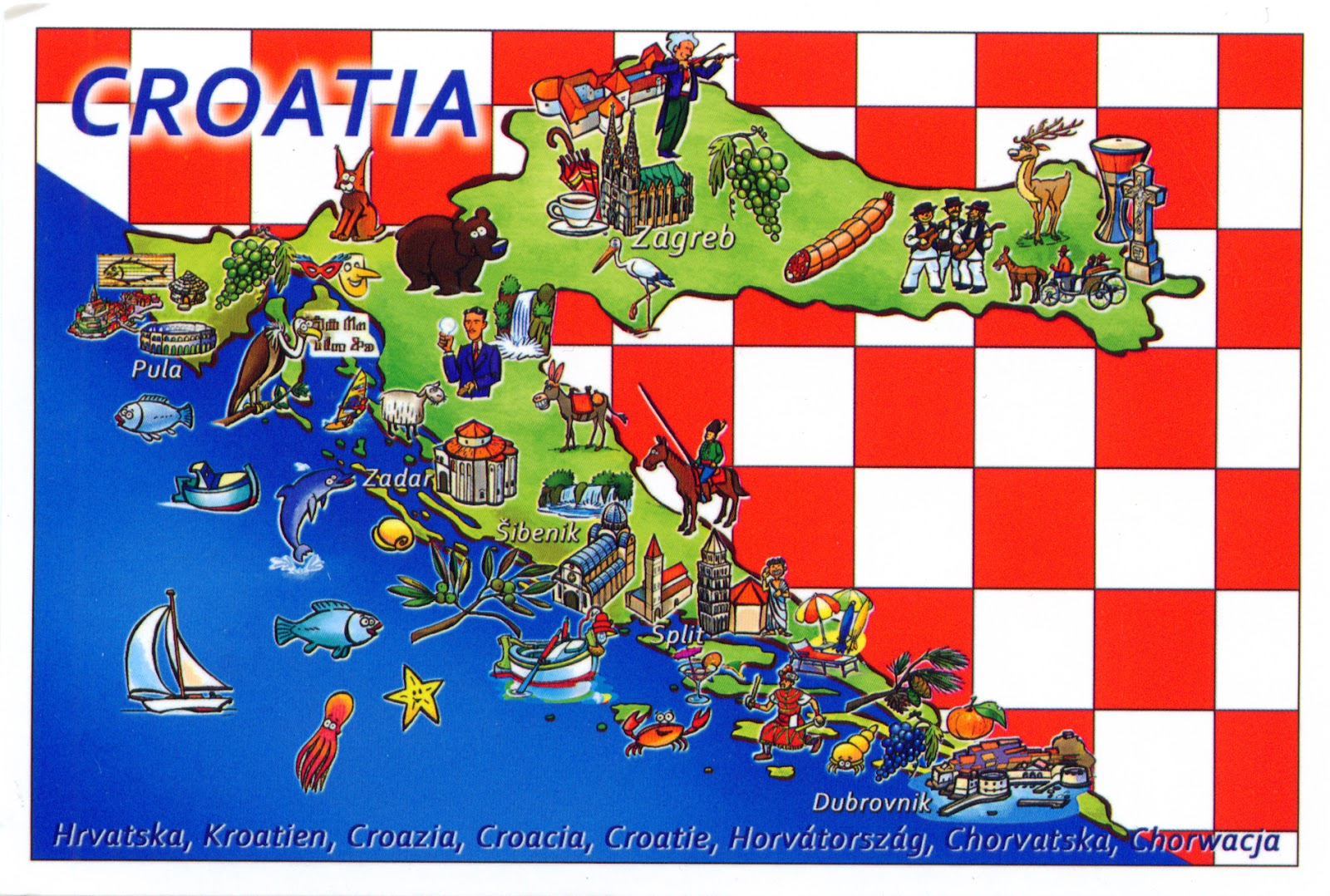 World come to my home 0118 1227 croatia the map and the flag 0118 1227 croatia the map and the flag of the country gumiabroncs Images