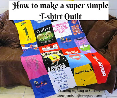Creating My Way To Success How To Make A Super Simple T Shirt Quilt