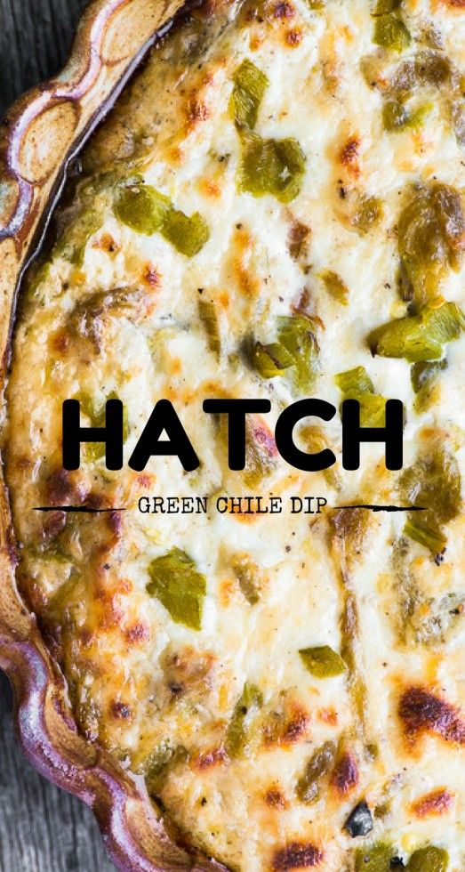 Cheesy Hatch Green Chile Dip is the ultimate game night appetizer, but don't be surprised it you want to hoard it all to yourself!