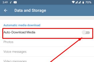 Cara Agar Telegram Tidak Mendownload gambar atau File Secara Otomatis