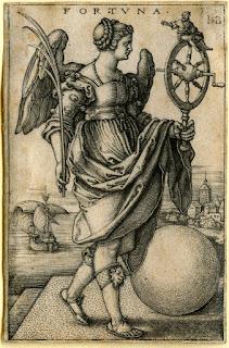 Retrato de la diosa Fortuna, de Hans Sebald Beham