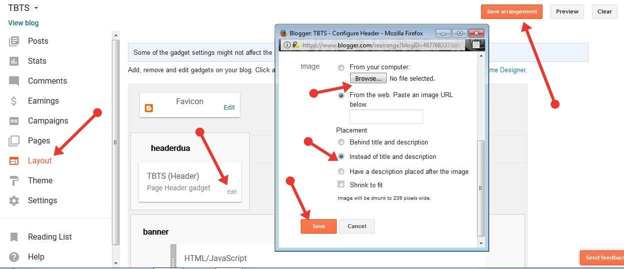 Blogger Blog में Logo Add और Upload कैसे करते है ?