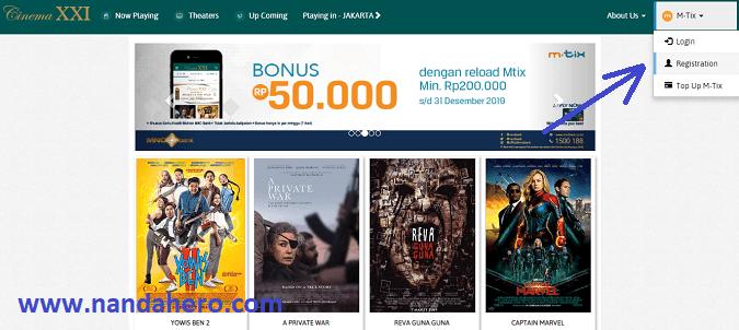 cara beli tiket bioskop online xxi mtix blitz