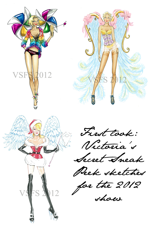 Victoria's Secret Fashion Show 2012 sketches