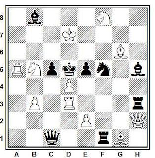 Problema de mate en 2 compuesto por Julio Peris Pardo (L'Italia Scacchistica, 1952-53)