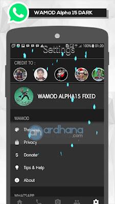 WAMOD Alpha 15 Dark - Whatsapp MOD