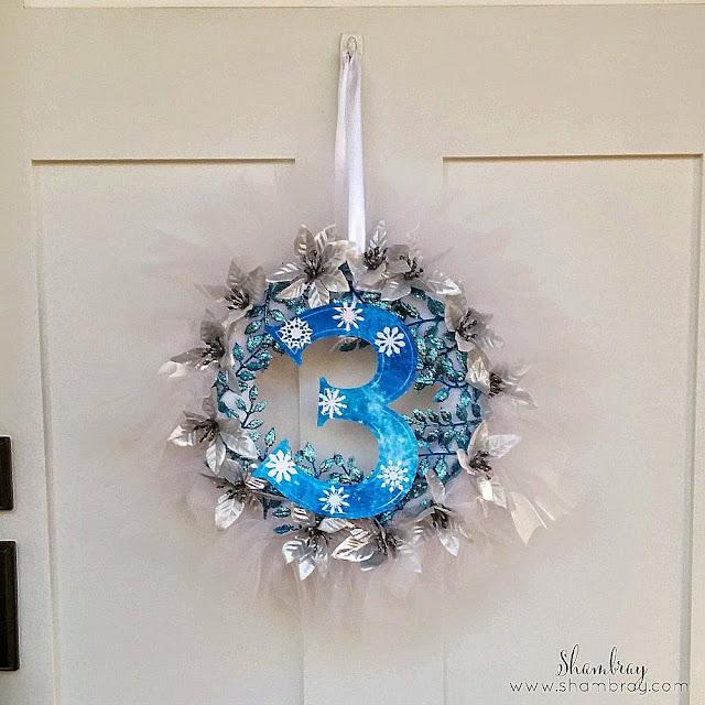 3, wreath, winter, snowflakes