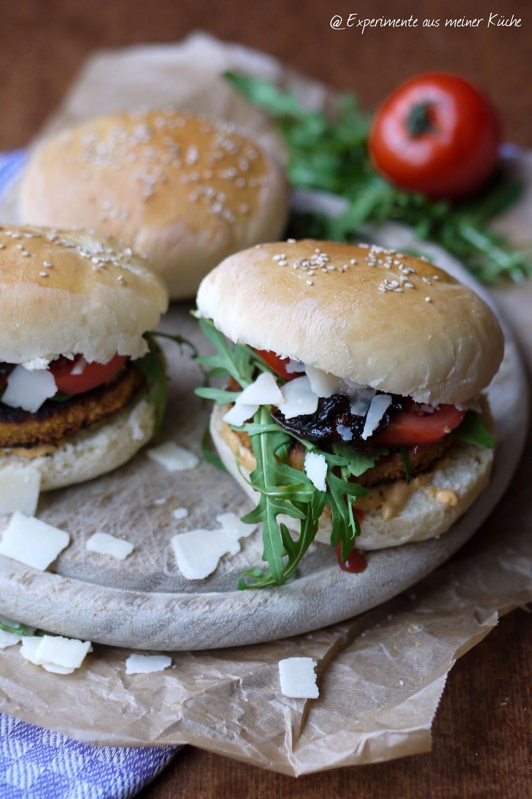 Experimente aus meiner Küche: Vegetarische Burger Italo Style mit ...