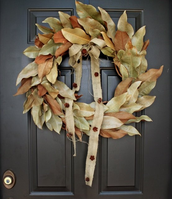 dishfunctional designs diy autumn wreaths you can make yourself. Black Bedroom Furniture Sets. Home Design Ideas