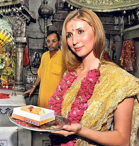 Claudia Cieslas Announcement Of Her Interest In Converting To Hinduism Is A Heartening Sign Hindu Society Should Welcome Her Into Our Fold With Affection