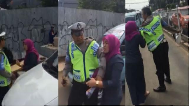 Inikah Curahan Hati Wanita yang Mengamuk & Cakar Polisi?