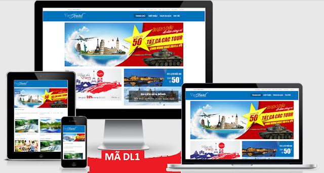 thiết kế web booking travel