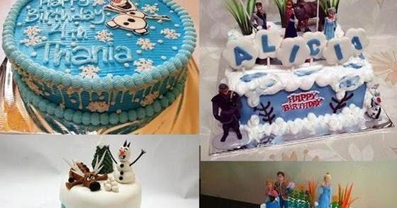 Contoh Kreasi Gambar Kue Ulang Tahun Frozen Untuk Anak
