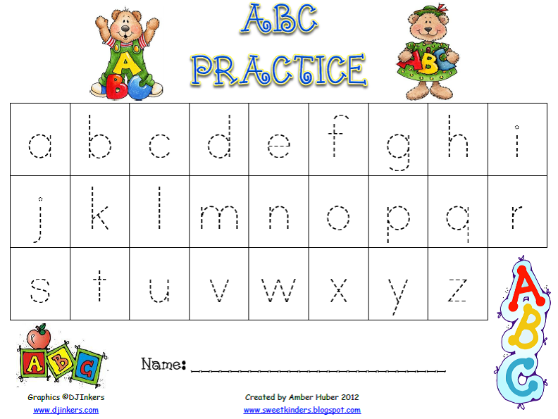 All Worksheets practice abc writing worksheets : Free Worksheets » How To Write Abc Letters - Free Printable ...