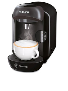 Refurbished £29.99 Bosch Tassimo Vivy Hot Drinks and Coffee Machine, 1300 W, Black
